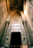 The entrance of al Sultan Hassan mosque in cairo Royalty Free Stock Images