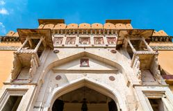 Entrance of Amer Fort in Jaipur. A major tourist attraction in Rajasthan, India. Entrance of Amer Fort in Jaipur. A major tourist attraction in Rajasthan State Stock Photography