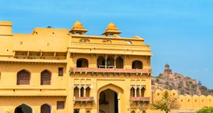 Entrance of Amer Fort in Jaipur. A major tourist attraction in Rajasthan, India. Entrance of Amer Fort in Jaipur. A major tourist attraction in Rajasthan State Royalty Free Stock Photo