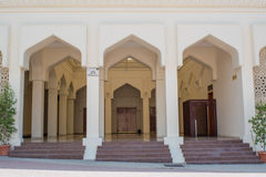 Entrance in the ancient amazing arabian cream colour holy mosque Stock Images