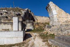Entrance of Ancient amphitheater in the archeological area of Philippi, Greece Royalty Free Stock Image