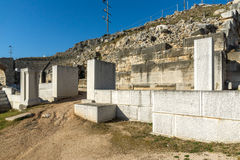 Entrance of Ancient amphitheater in archeological area of Philippi, Greece Royalty Free Stock Photo