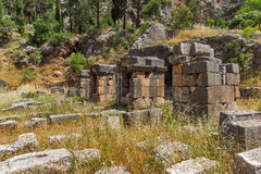 Entrance of Ancient Greek archaeological site of Delphi, Greece Stock Photos