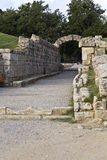 Entrance at ancient Olympia stadium in Greece Stock Photo