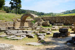 The entrance in ancient Olympia Stadium Stock Photography