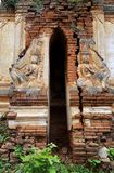 Entrance of ancient temple in Inthein, Myanmar Royalty Free Stock Photo