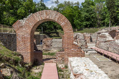 Entrance of the ancient Thermal Baths of Diocletianopolis, town of Hisarya, Bulgaria Stock Photos