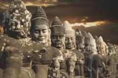 Entrance of Angkor Thom,Siem Seap, Royalty Free Stock Photos