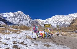 Entrance of Annapurna base camp royalty free stock image
