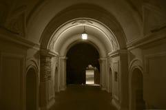 Entrance through the arch. stock photos