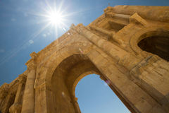 Entrance arch, Jerash Royalty Free Stock Photos