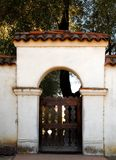 The entrance arch of San Juan Bautista Mission Royalty Free Stock Photography