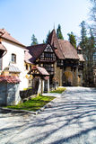 Entrance arch to the territory of Peles castle, Sinaia, Romania. Colorful Entrance arch to the territory of Peles castle complex, Sinaia, Romania Stock Images