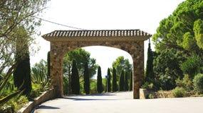 Entrance arch to an urbanization of the Costa Brava. Girona, Catalunya, Spain Royalty Free Stock Photography