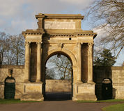 Entrance archway. Leading to the gardens at Blenheim palace, Woodstock, Oxford, UK stock photography