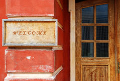 Entrance area of a house Stock Image