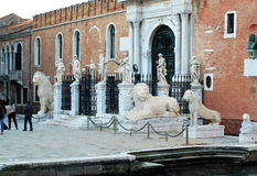 Entrance of the Arsenal. Venice, Italy Stock Photography