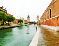Entrance of the Arsenale. Venice, Italy stock images