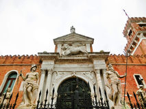 Entrance of the Arsenale. Venice, Italy Stock Image
