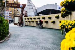 Entrance Of Ataturk`s Moving Kiosk In Yalova - Turkey stock photography