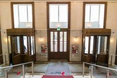 Entrance of Austrian Postal Savings Bank, Vienna, Austria Royalty Free Stock Photo