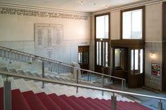 Entrance of Austrian Postal Savings Bank, Vienna, Austria Royalty Free Stock Image