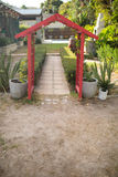 Entrance at back yard. Metallic entrance at back yard Royalty Free Stock Photos