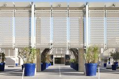 The entrance of Bahrain National Museum Stock Photography