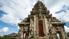 Entrance in Bali. One  of the entrance to small  temple in district Ubud during the religious ceremony on June 19, 2015 at Bali, Indonesia Stock Images