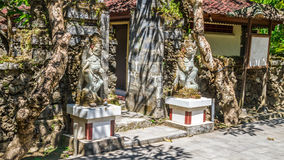 Entrance of a balinese temple in tropical garden Royalty Free Stock Photos