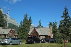 Entrance at Banff National Park. Stock Photo