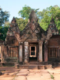 Entrance of the Banteay Srei Temple in Cambodia Royalty Free Stock Photo