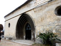 Entrance in Bartolomeu fortified church, Saxon, Romania, Transilvania Royalty Free Stock Images