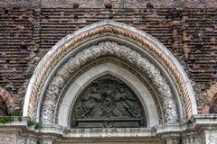 Entrance of Basilica di San Giovanni e Paolo in Venice Stock Image