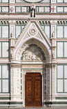 Entrance of Basilica of Santa Croce, Florence Royalty Free Stock Photo