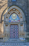 Entrance of Basilica of St Peter and St Paul in Vysehrad Stock Photo