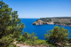 Entrance of the bay of Cala Montgo in Costa Brava Stock Photography