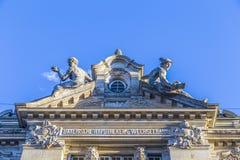 Entrance of the Bayerische Hypotheken- und Wechsel-Bank Stock Photo