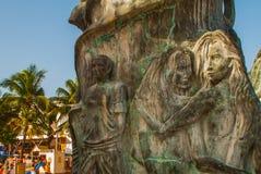 Entrance of the beach in Playa del Carmen, Mexico. Riviera Maya.  royalty free stock image