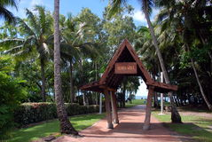 Entrance for the beach walk, Airlie Beach, Queensland, Australia. Royalty Free Stock Photography