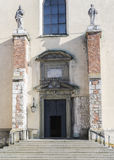 Entrance ,Benedictine Abbey in Tyniec Stock Images