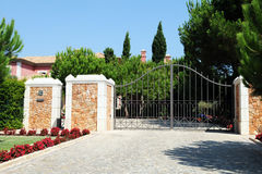 Entrance Gate from a Luxurious Property Stock Image
