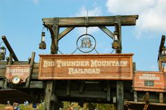 Entrance for Big Thunder Mountain Stock Image