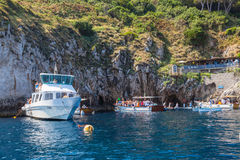 Entrance of Blue Grotto on Capri Island Stock Photography