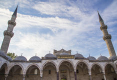 Entrance of the blue mosquee Royalty Free Stock Photography