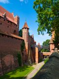 Entrance bridge od Malbork Castle Royalty Free Stock Photos