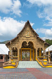 Entrance in buddhist temple in Chiang Rai, Thailand Royalty Free Stock Images