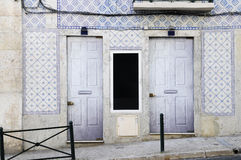 Entrance Building - Hand Painted Glazed Tiles_Azulejo Stock Photography