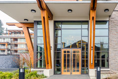 Entrance of a building. Entrance of a house building in Vancouver, Canada Stock Images