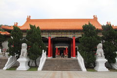 Entrance building of national revolutionary martyrs` shrine in Taiwan. Entrance building of national revolutionary martyrs` shrine in Taipei, Taiwan Royalty Free Stock Image